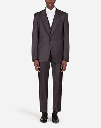Dolce & Gabbana Pinstripe Wool Sicilia-Fit Suit