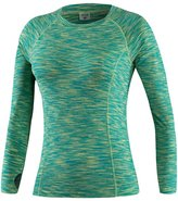 YiJee Womens Elastic Fitness T-Shirt Long Sleeves Compression Base Layer XL