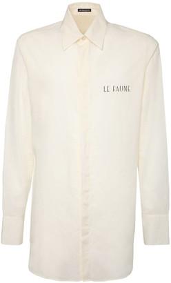 Ann Demeulemeester Faune Print Cotton Long Shirt