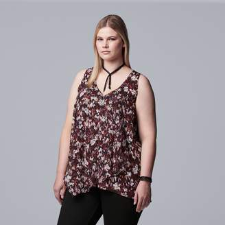 Vera Wang Plus Size Simply Vera Handkerchief Tank