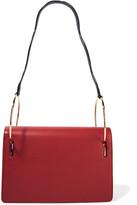 Roksanda Ring Wave Leather Shoulder Bag - Brick