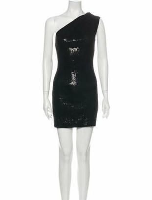 HANEY One-Shoulder Mini Dress w/ Tags Black