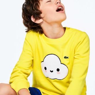 Lacoste Boys' x FriendsWithYou Graphic Crew Neck Cotton Sweatshirt