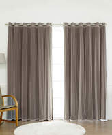 Best Home Fashion Chocolate Tulle Sheer Lace Blackout Curtain Panel Set