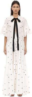Lug Von Siga Alexa Long Ruffled Cotton & Linen Dress