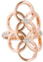 Catherine Malandrino Diamond Circle Linked Floral Ring