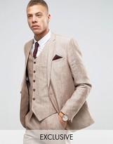 Heart & Dagger Skinny Suit Jacket In Linen