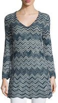 Calypso St. Barth Bluenna Chevron-Knit Sweater