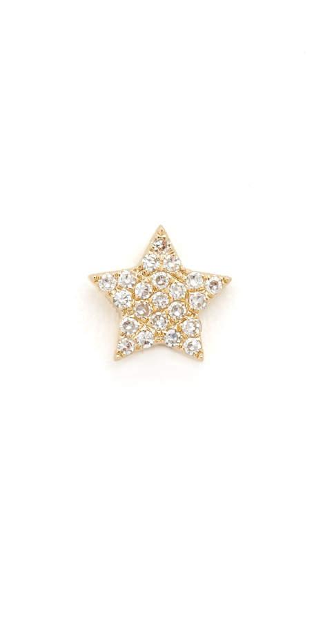 Ef Collection Diamond Star Single Stud Earring