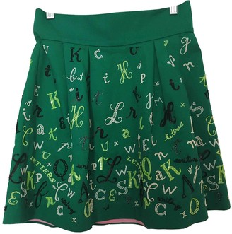 Olympia Le-Tan Olympia Le Tan Green Cotton - elasthane Skirts