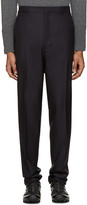 Lanvin Navy Wool Trousers