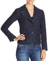 MICHAEL Michael Kors Retro Shrunken Tweed Blazer