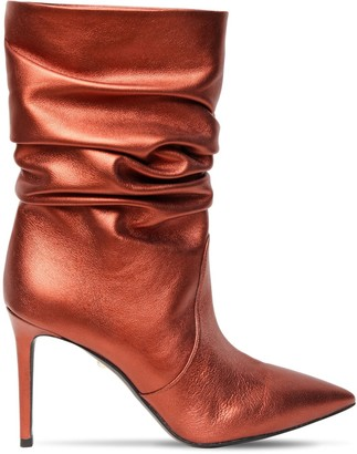 ALEVÌ Milano 90mm Metallic Leather Ankle Boots