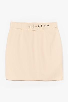 Nasty Gal Womens The Love That I Belt Mini Skirt - Beige - 14, Beige
