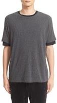 ATM Anthony Thomas Melillo Men's Layered Sleeve T-Shirt