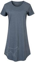 Instant Message Women's Women's Tee Shirt Dresses HEATHER - Heather Blue Cat Constellation Short-Sleeve Dress - Women & Plus
