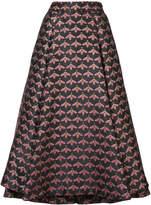 Christian Siriano bee print full skirt