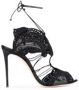 Casadei macramà ̈ lace evening sandals