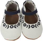 Robeez Navy Daisy Lane Embroidered Leather Mary Jane