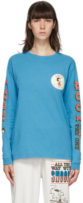 Marc Jacobs Blue Peanuts Edition Lucy Long Sleeve T-Shirt