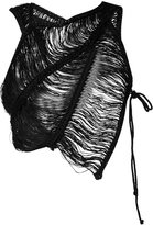 Isabel Benenato cut-detail top - women - Cotton/Linen/Flax - 44