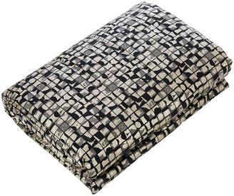 Roberto Cavalli Mosaico Jacquard Quilt - 270x260cm - Black/Platinum