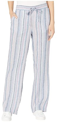 Vince Camuto Drawstring Wide Leg Cabana Stripe Pants