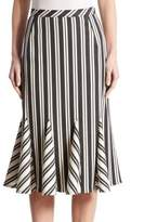 Altuzarra Crocus Striped Godet Skirt