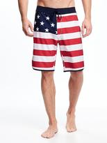 "Old Navy Built-In Flex Americana Board Shorts for Men (10"")"