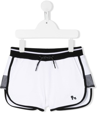 Karl Lagerfeld Paris Contrast Panel Sport Shorts