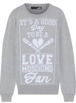 Love Moschino Intarsia Cotton Sweater