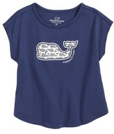 Vineyard Vines Toddler Girl's Etched Whale Swing Tee