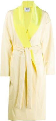 MAISIE WILEN Belted Satin-Finish Coat