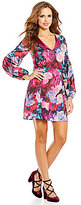 Gianni Bini Emma V-Neck Long Sleeve Floral A-Line Dress