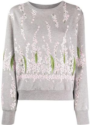 Giambattista Valli Floral Embroidered Cotton Sweatshirt