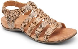 Vionic Leather Backstrap Open-Toe Sandals - Harissa Snake
