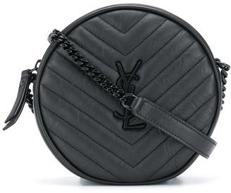 Saint Laurent Vynile round crossbody bag