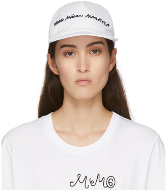 MM6 MAISON MARGIELA White Logo Cap