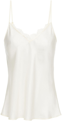 Tory Burch Lace-trimmed Silk-satin Camisole