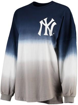 New York Yankees Fanatics Women's Navy Oversized Long Sleeve Ombre Spirit Jersey T-Shirt