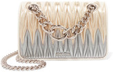 Miu Miu Club Matelassé Leather Shoulder Bag - Gold