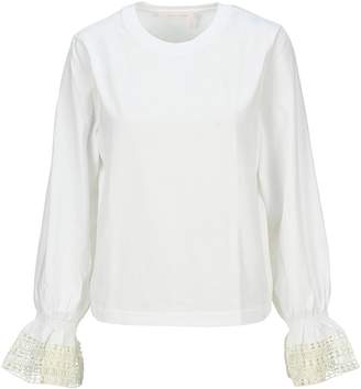 See by Chloe Lace Cuff T-shirt