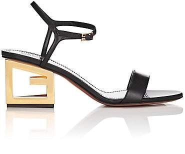 Givenchy Women's Logo-Heel Leather Sandals - Black