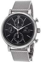 IWC Men's Portofino Mechanical Chronograph Dial Stainless Steel