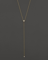 Chicco Zoe 14K Yellow Gold Diamond Trio Short Lariat Necklace, 16