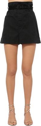 Etoile Isabel Marant Rike High Waist Canvas Shorts