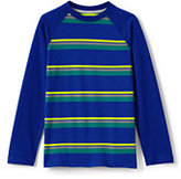 Classic Little Boys Stripe Raglan Tee-Red Orange Stripe