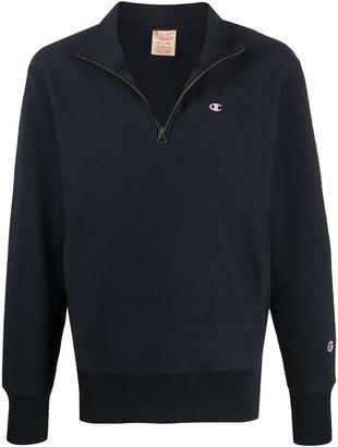 Champion Logo-Embroidered Half-Zip Sweatshirt