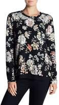 Bobeau Floral Bow Back Sweater