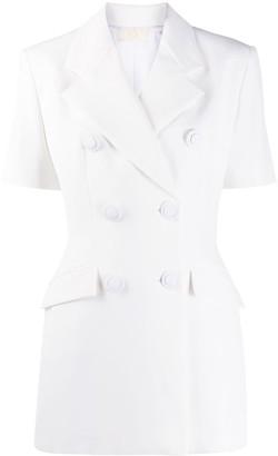 Sara Battaglia Smart double breasted short-sleeved jacket